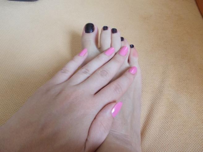 roz + negru